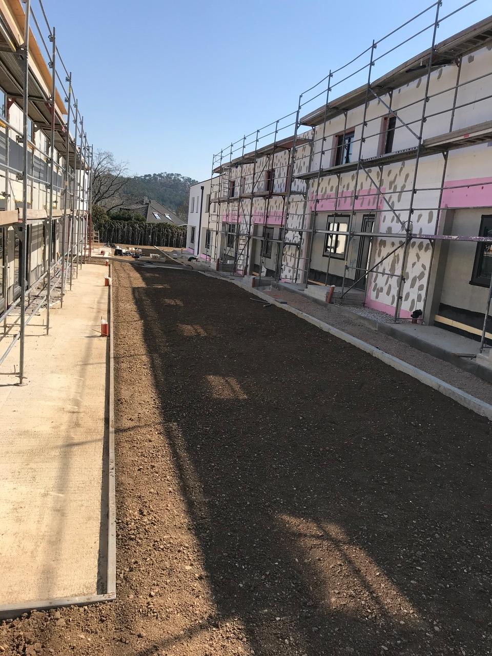 Baufortschritt Bauteil 2 und 4